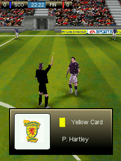 FIFA08 Ngage yellow card