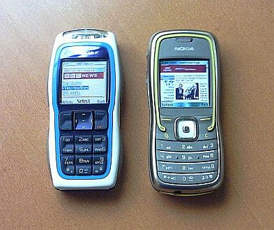Nokia 5500 compared with a non-smart phone