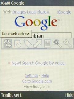 Web's toolbar