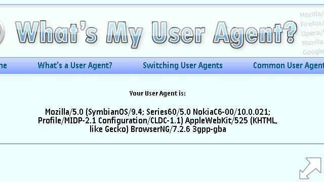 Web user agent info