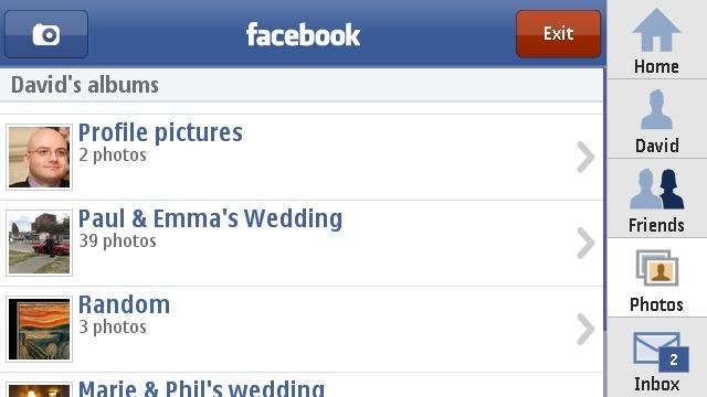 The Nokia Facebook application