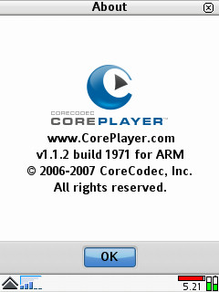 CorePlayer Symbian UIQ 3