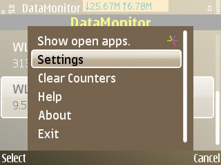 DataMonitor's sparse user interface