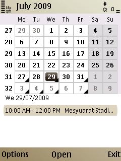 E52 Calendar