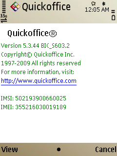 E52 Quickoffice
