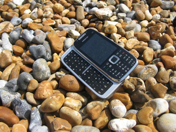 Nokia E75 visit the beach