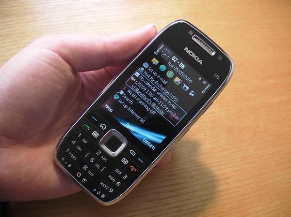 Nokia E75 closed
