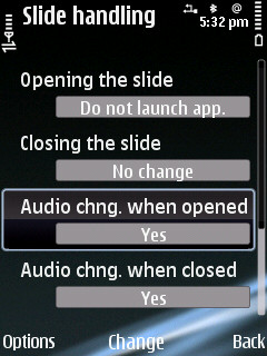 slide settings