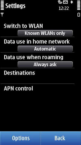 Connectivity settings