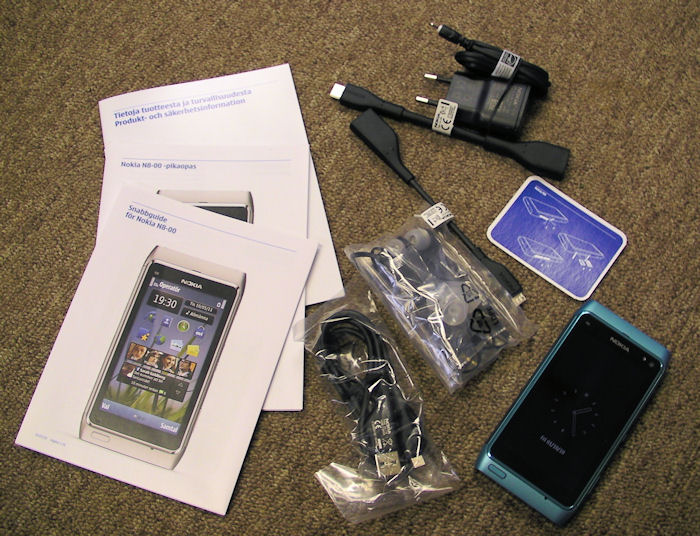 N8 box contents