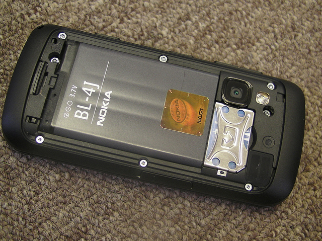The Nokia C6 battery