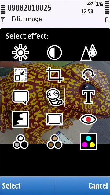 The Symbian^1 photo editor