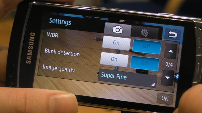 Camera Settings on Omnia HD