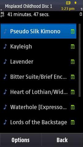 Music Screenshot: Library