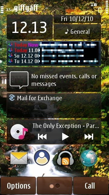 The Coming Next home screen widget in action