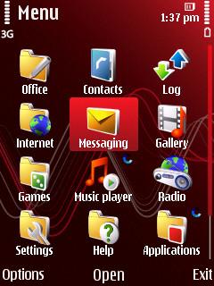 Nokia 5320 main menu