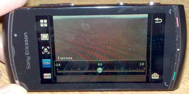 Vivaz Pro Camera UI: Exposure