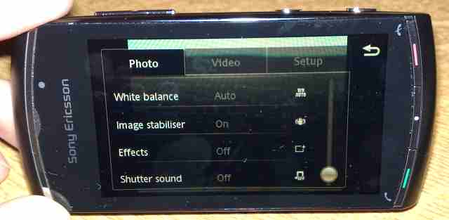 Vivaz Pro Camera UI: Settings