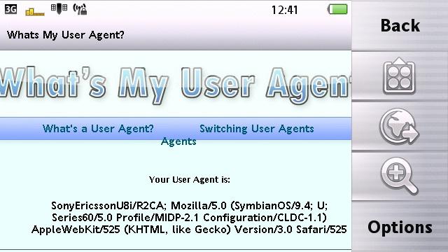 Vivaz Pro Web user agent