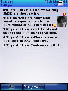 AquaCalendar UIQ 3. Busy Day