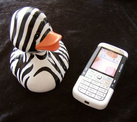 Nokia 5700 with rubber duck