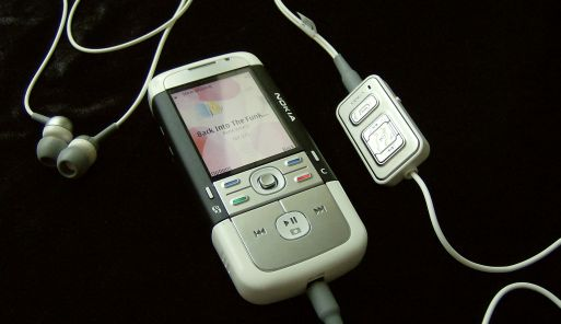 Nokia 5700 with 3.5mm adapter