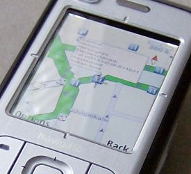 Nokia 6110 Navigator 2D map mode