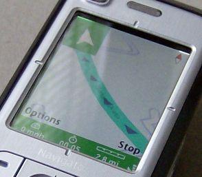 Nokia 6110 Navigator 3D map mode