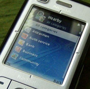 Nokia 6110 Navigator nearby landmarks