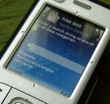 Nokia 6110 Navigator destination search