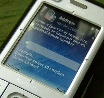 Nokia 6110 Navigator address search