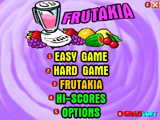 Frutakia title screen