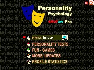 Personality Psychology Pro title screen
