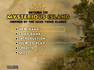 Mysterious Island title screen