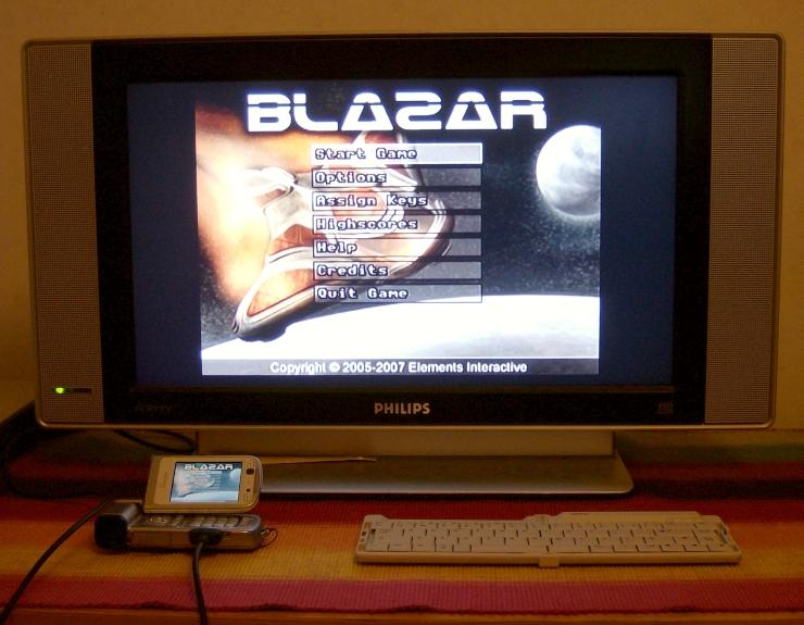 Blazar on a television set