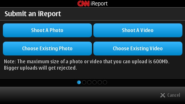 CNN iReport for Symbian