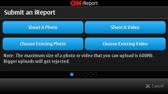 CNN iReport for Symbian