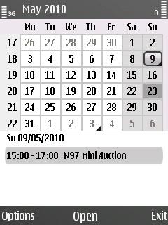 E55 Calendar month view