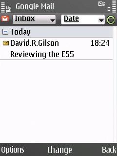 E55 E-mail application