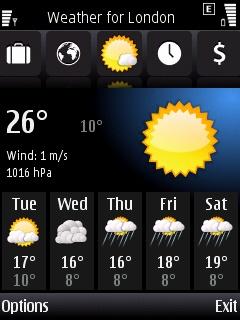 Psiloc World Traveller weather forcast