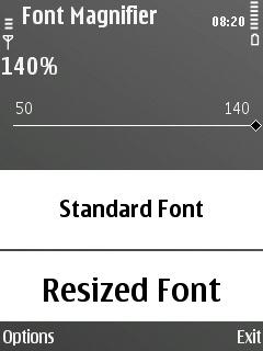 Psiloc Font Magnifier