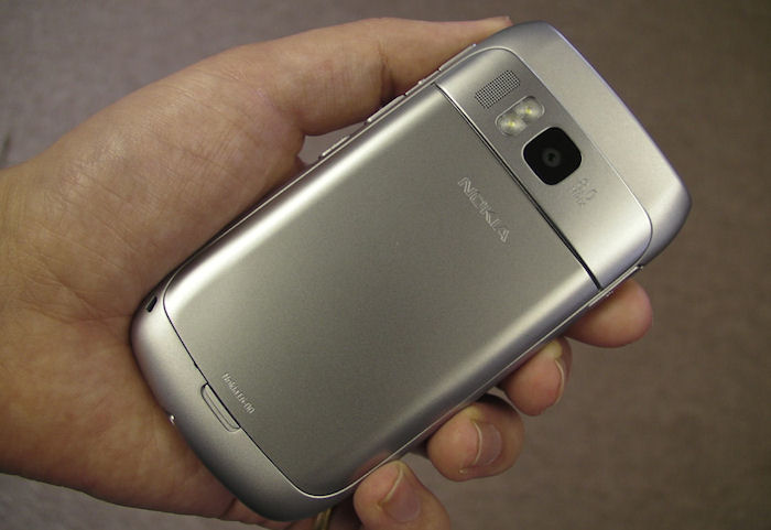 Nokia E6 from the back