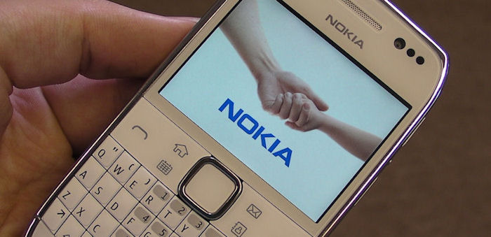 Nokia E6 from the top