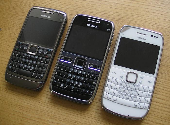 Nokia E71, E72 and E6
