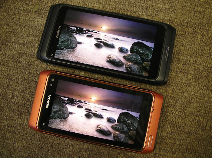 N8 and E7 Screen comparison