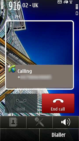 VoIP calling on E7