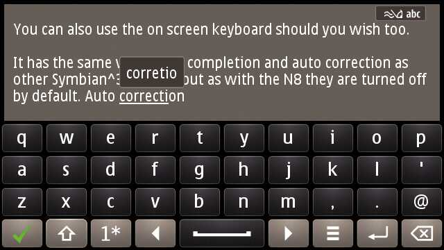 Using auto correction on the E7