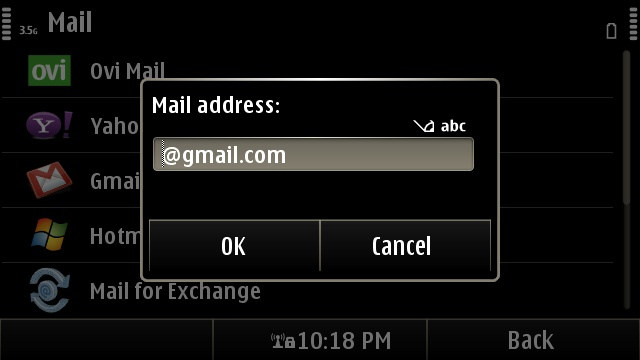 Minimal configuration for your e-mail account with Nokia Messaging