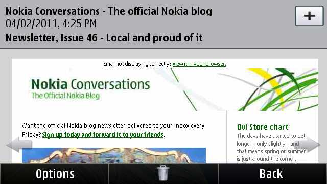 Mail for Exchange in Nokia Messaging