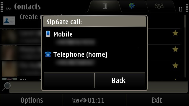 Making a phone call via the Internet thanks to SIP functionality